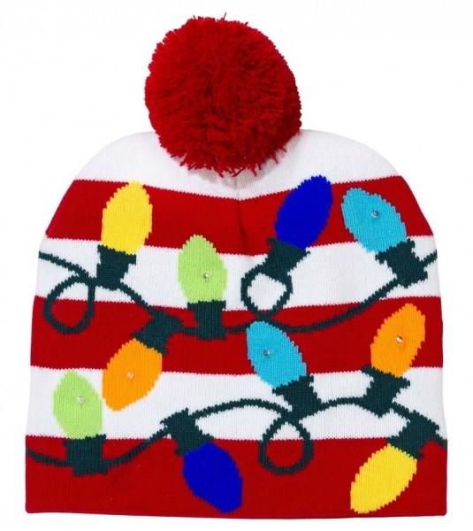 Weihnachtslichter Mütze