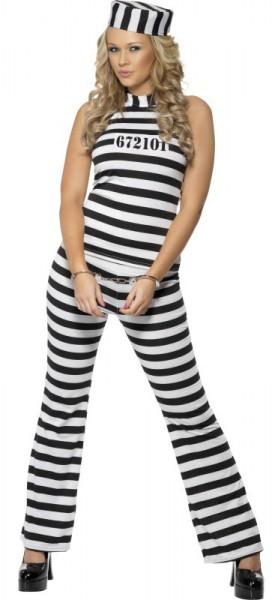 Gestreiftes Gefängnis Damenkostüm