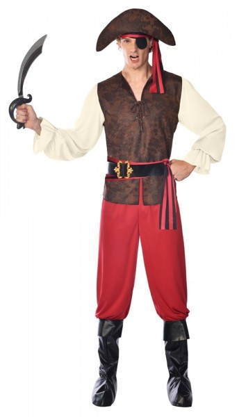 Costume de pirate avec cache-oeil