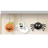 Fröhliche Halloween Geister Hängedeko 20,3cm