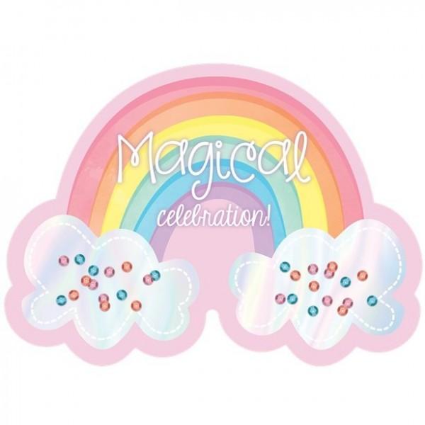 8 Fairy Rainbow Einladungskarten inkl. Umschläge