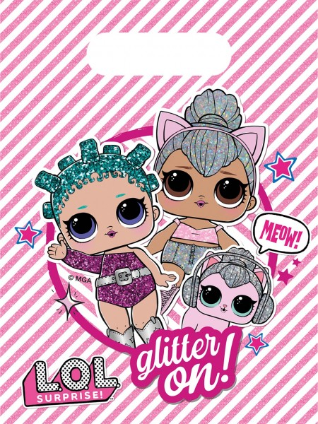 6 sacs cadeaux LOL Glam Girls