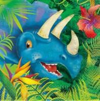 16 Dino Abenteuer Servietten 33 x 33cm