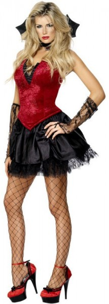 Costume de vampire sexy corsage en dentelle pour femmes