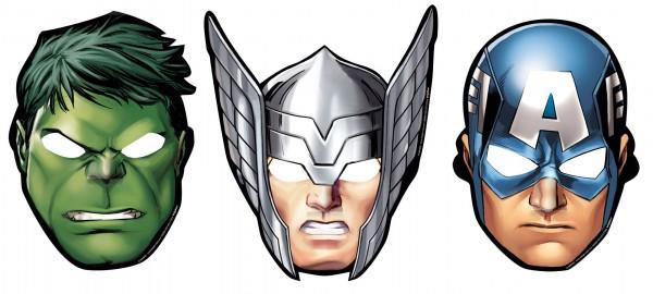 Fantastische Avengers Superhelden Maske 8 Stück