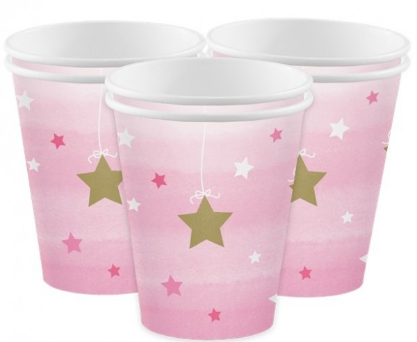 8 Twinkle Baby Girl Pappbecher 256ml