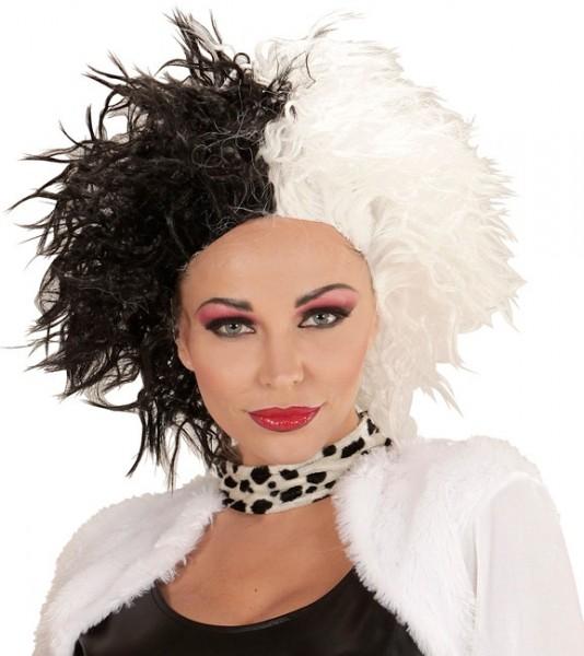 Schwarz-Weiße Dalmatinerfängerin Perücke