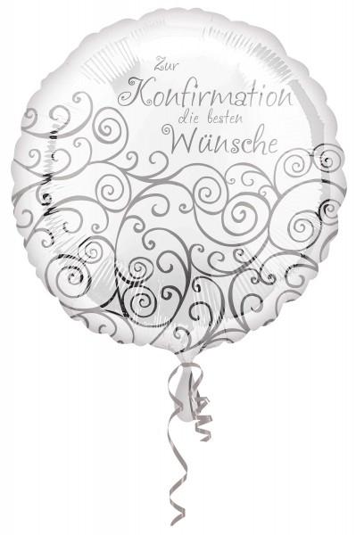 Folienballon Glückwünsche zur Konfirmation 43cm