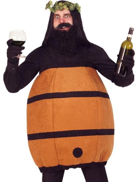 Lebendes Weinfass Herrenkostüm
