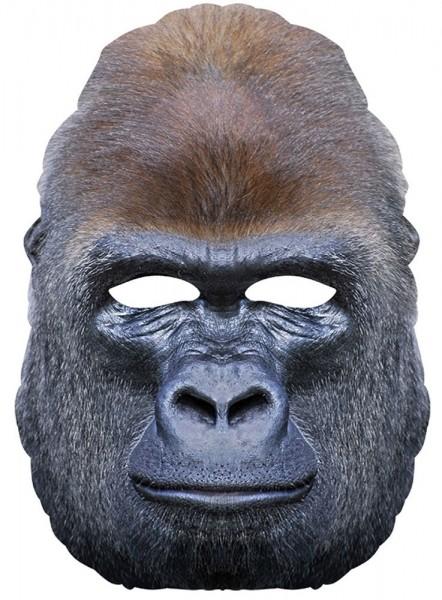 Gorilla Dschungelkönig Pappmaske