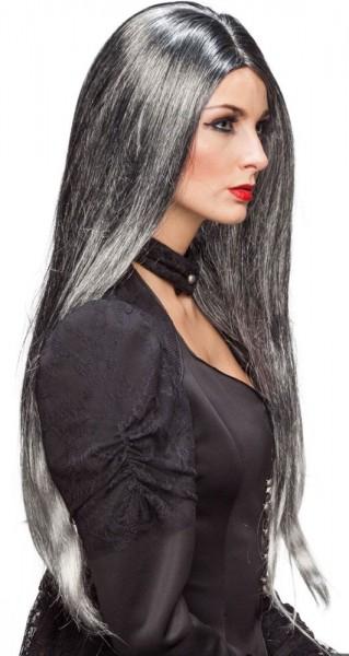 Perruque cheveux longs Priscilla gris