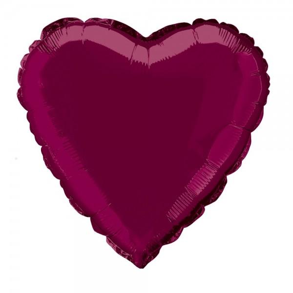 Ballon coeur True Love bordeaux