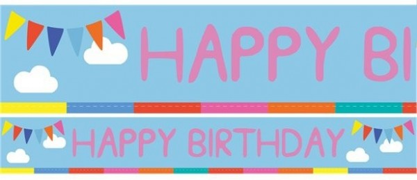 3 Peppa Wutz Happy Birthday Banner