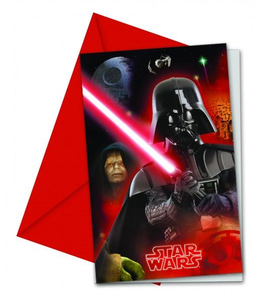 6 Star Wars Galaxy Einladungskarten