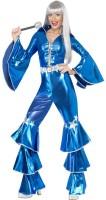 Disco Dancing Queen Jumpsuit Blau