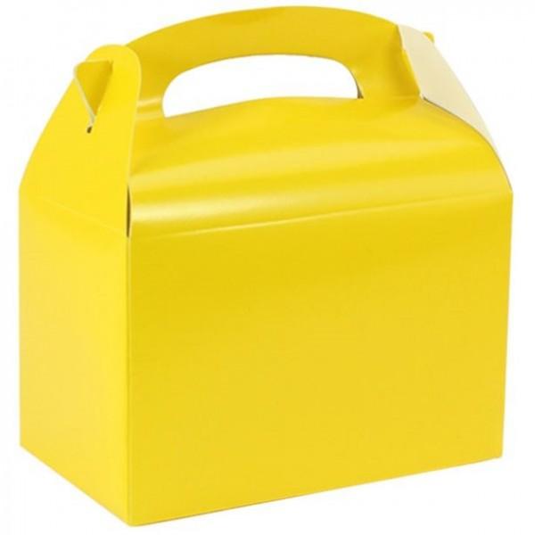 Coffret cadeau rectangulaire jaune 15cm