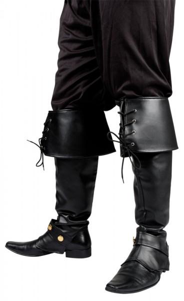Laarzen in imitatieleer Zwart