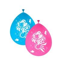8 Ballons niedliche Meerjungfrau 30cm