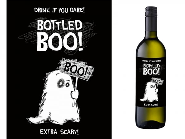 10 labels Bottled Boo self-adhesive