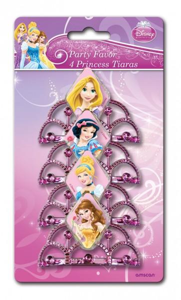 Disney Prinzessinnen Glitzerndes Mini Diadem Rosa 4 Stück