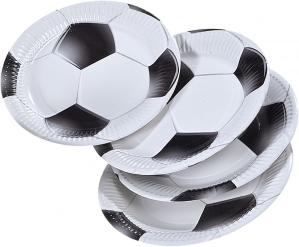 8 Fußball Torjäger Pappteller 23cm