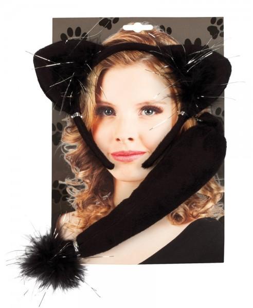 Katzen Haarreif Schwarz
