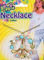 Flower Power Hippie Peace Halskette