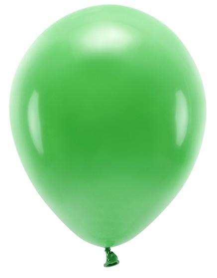 100 eco pastel balloons green 30cm