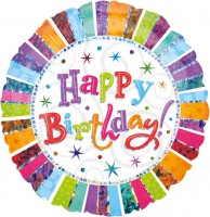 Colourful Birthday Folienballon 81cm