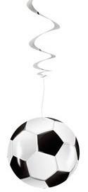 3 Fußball Party Spiralhänger