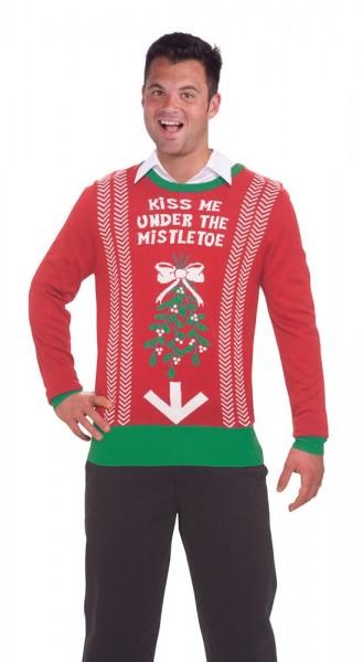 Mistelzweig Date Weihnachtspullover