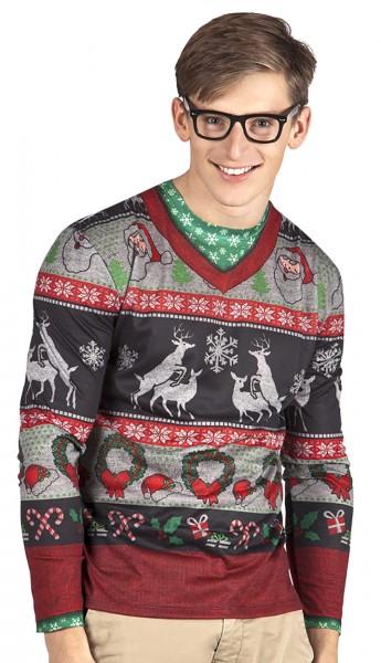 Hipster Weihnachten Shirt Für Herren
