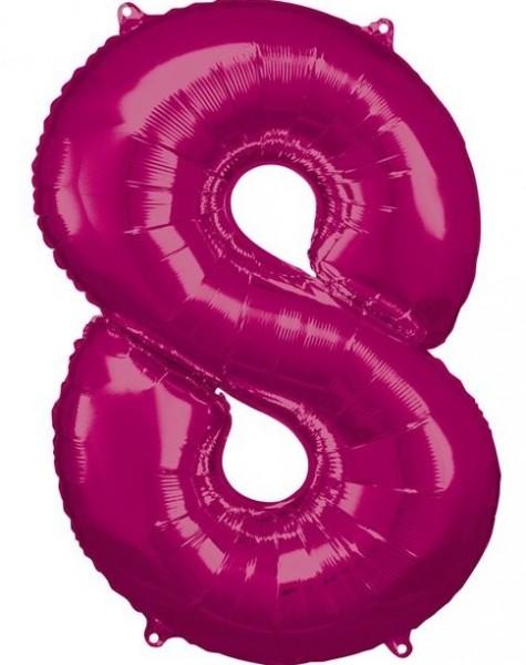 Balon foliowy nr 8 różowy 86cm