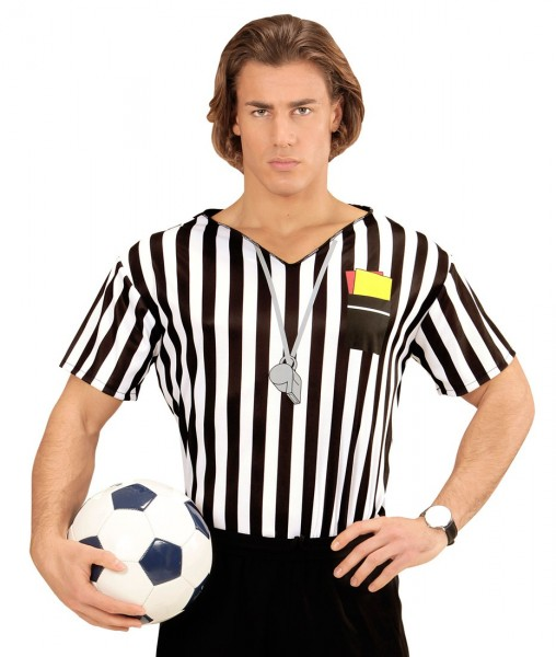 Striped referee shirt