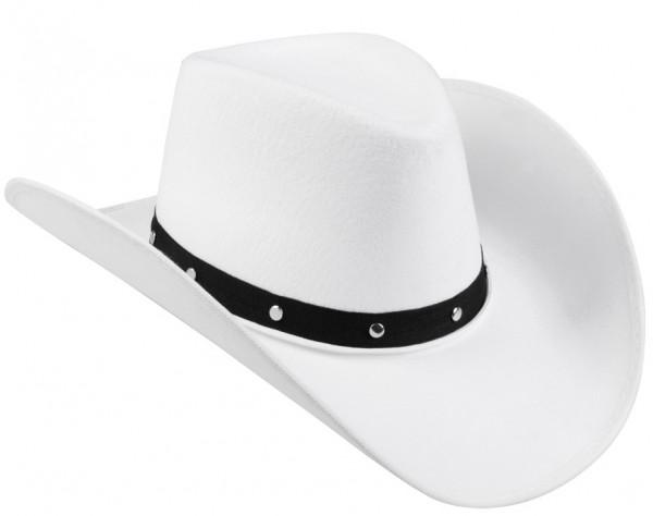 Biały kowbojski kapelusz Danny