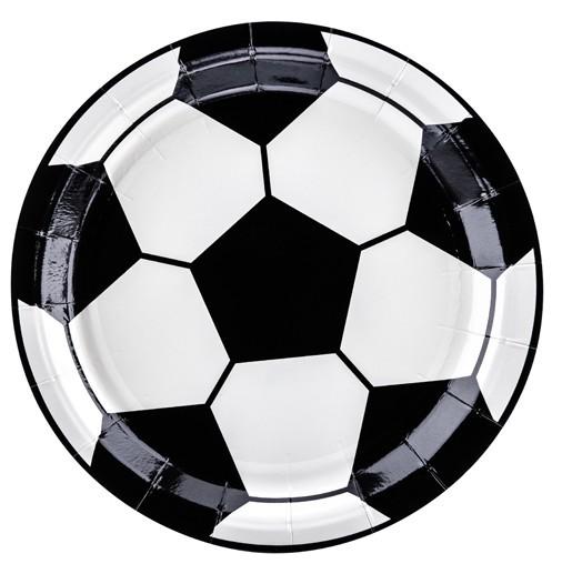 6 Fußball Pappteller Kick it 18cm