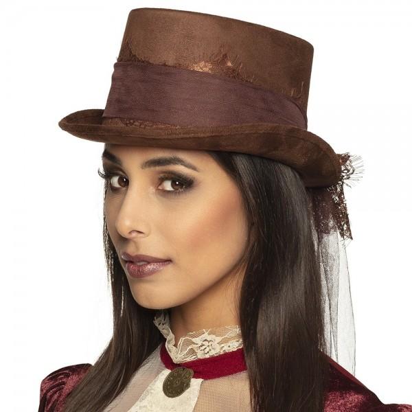 Sombrero de copa Steampunk Lady Cornelia