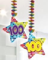 2 Groovy 100th Birthday Spiralhänger 75cm