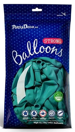 100 Partystar Luftballons türkis 23cm