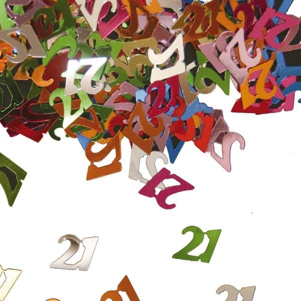 Coriandoli colorati 21 ° compleanno