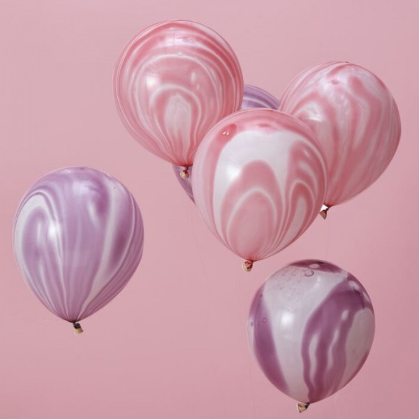 10 Shiny Unicorn Marmor Ballons 30cm
