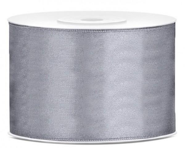 25m satin ribbon gray 50cm wide