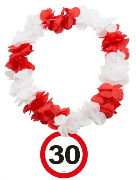 Verkehrsschild 30 Hawaiikette