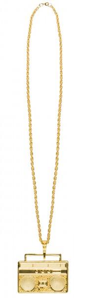Goldene Radio Halskette