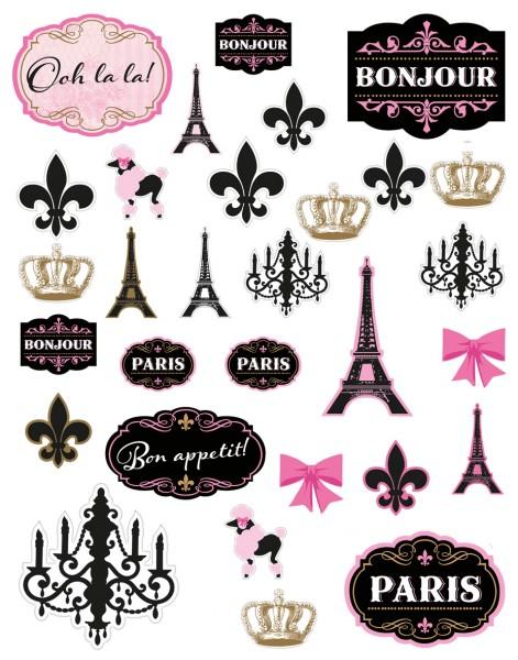 Tag in Paris Raumdeko 30-teilig