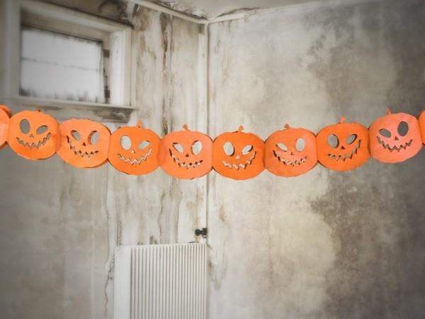 Papieren slinger Crazy Pumpkin 3m