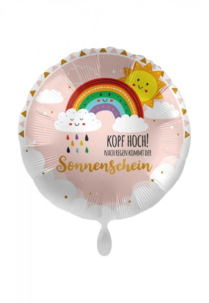 Kopf hoch Sonnenschein Folienballon 43cm