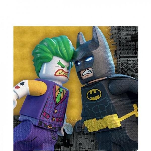 16 Lego Batman und Joker Servietten 33cm