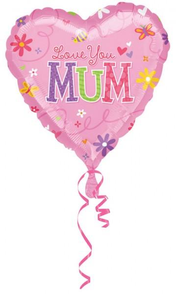 Heart balloon Love you Mum