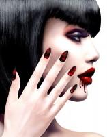 Blutige Fingernägel 12er Set